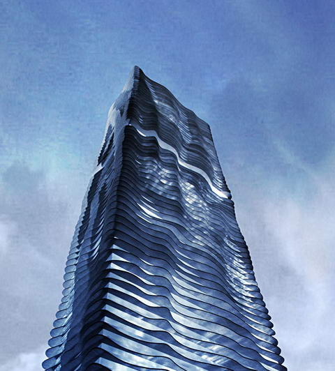 Aqua tower Studio Gang Architects Chicago 1