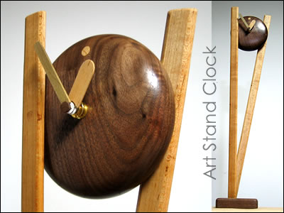 Artclock wooden clock by Famo Design