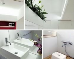 White Bathroom Shower