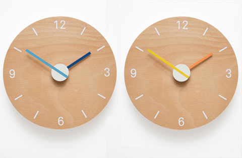 Barnaby Tuke Clock blue orange