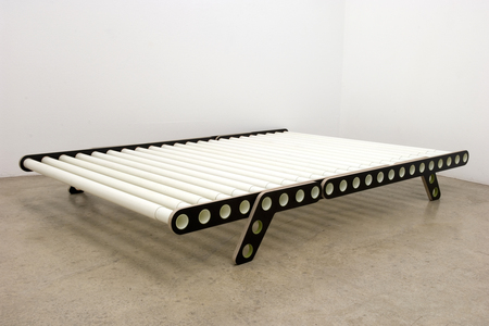 bed with tubular grid by nicola from bern delta 2