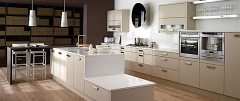 Beige Kitchen wooden flooring SN Collection