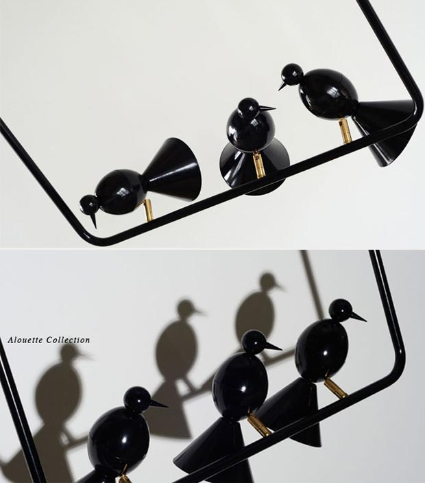 black Alouette pendant lamp Atelier Areti