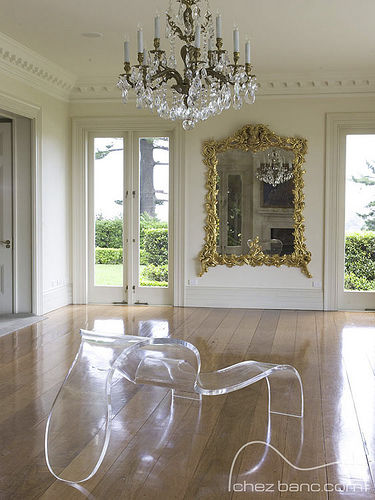 D amore naked chair by Russell Grigg Chez Banc transparent