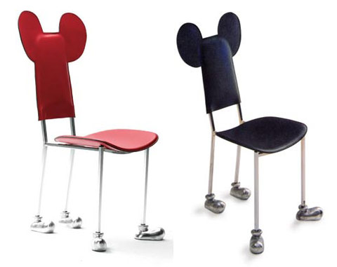 Garriris chair red and black by Javier Mariscal
