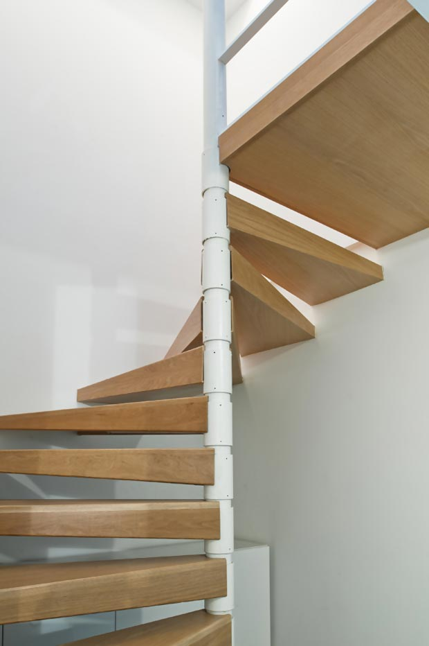 industrial spiral stairs New York Loft by MAS