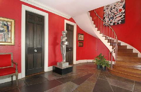 Interior Ideas colored walls red