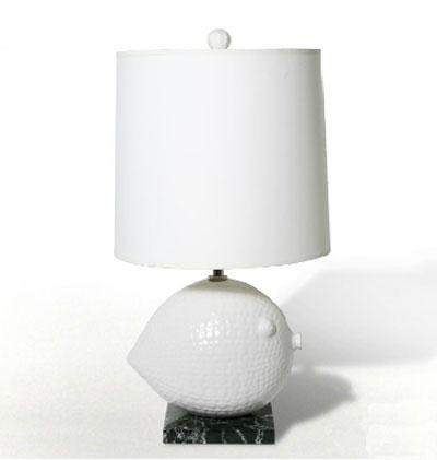 Jonathan Adler ceramic lamps fish
