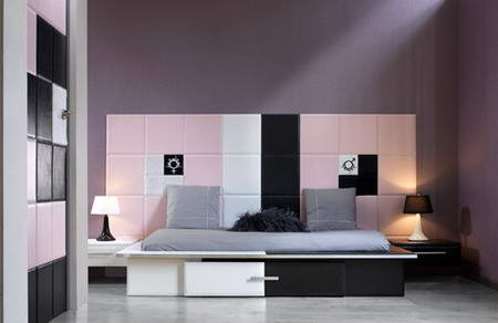 Leather Panels Bedroom