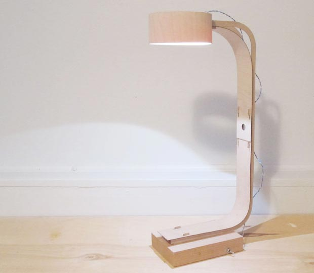 minimalist lamp by Tom Chung