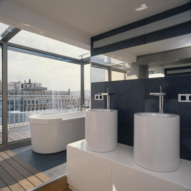 Modern Apartment Susanna Cots Barcelona duplex bathroom view