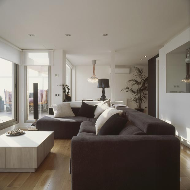 Modern interior design barcelona top floor duplex by susanna cots