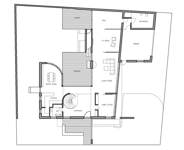 Modern family home K17 by DAR612 floor plan