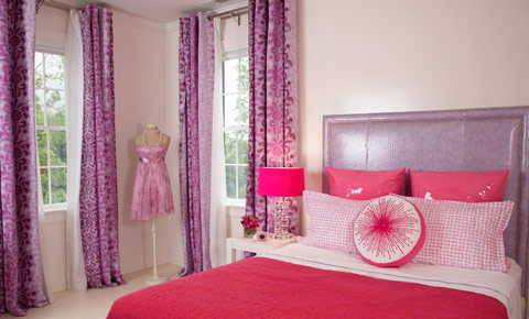 pink purple interior