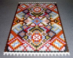 Puzzle Persian Rug And Puzzle Doilies By Katrin Sonnleitner