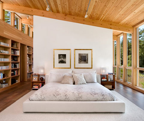 Sebastopol Residence TGH Architects bed