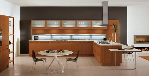 Snaidero Kitchen Inspiration wood glass