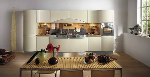 Snaidero Kitchen Inspiration white curvy