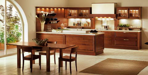 Snaidero Kitchen wood lights