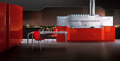 Snaidero Kitchen Inspiration red