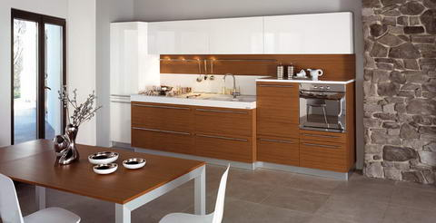 Snaidero Kitchen wood white