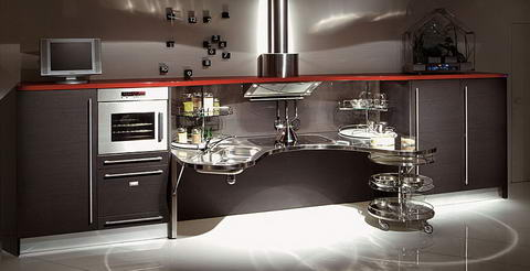 Snaidero Kitchen Inspiration wenge steel