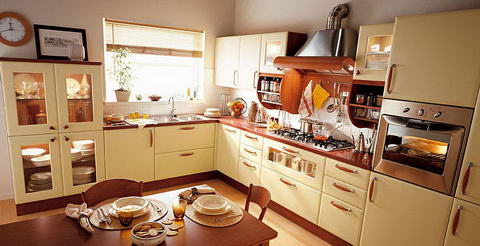 Snaidero Kitchen cream wood