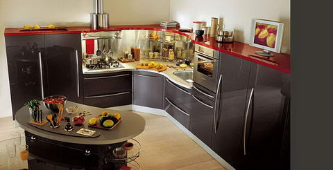 Snaidero Kitchen Inspiration wenge red