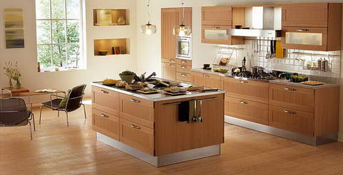 Snaidero Kitchen steel cream wood