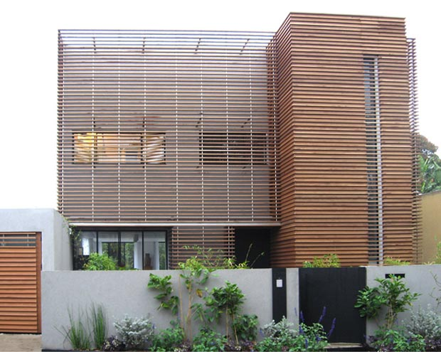 The NTV House by Arstudio wood frame facade