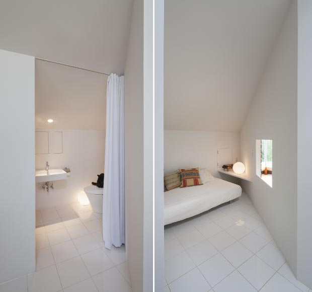 white interior space small house by ACAA