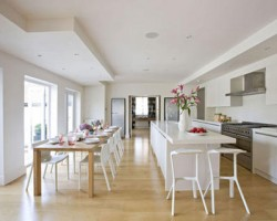 Wooden Flooring For The Kitchen Space
