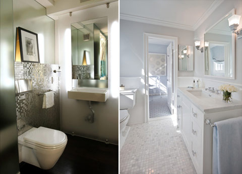 white silver bathroom