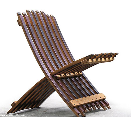 Wine Barrel Folding chair Whit McLeod