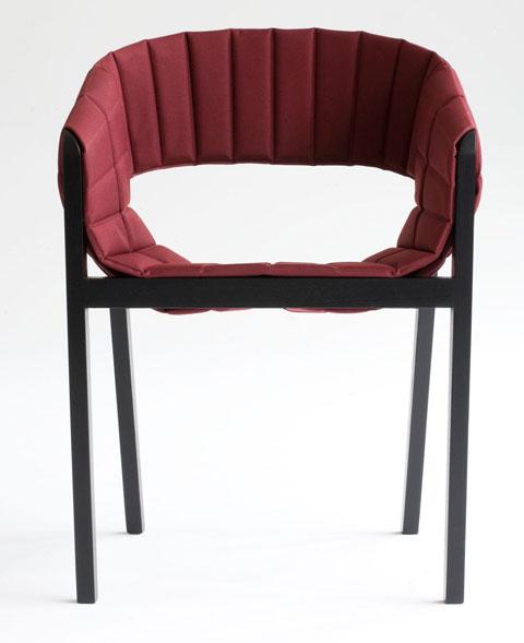 Wogg 42 armchair Jorg Boner red front
