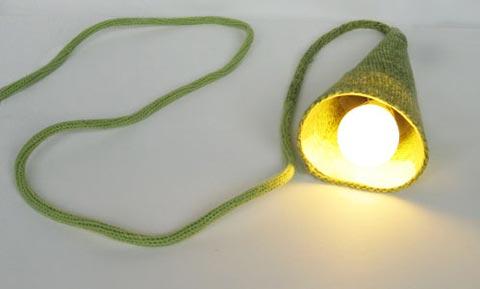 Woolmark green lamp Philippe Tyberghien